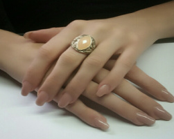 Acrylnagels naturel